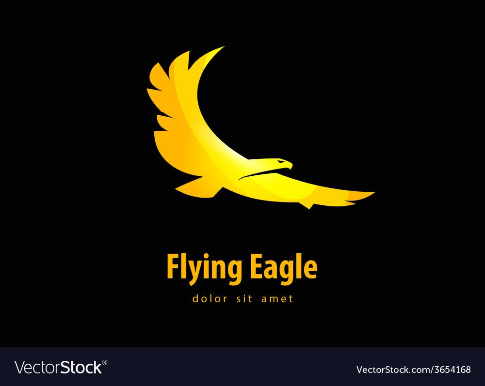 Eagle design template bird or animal icon