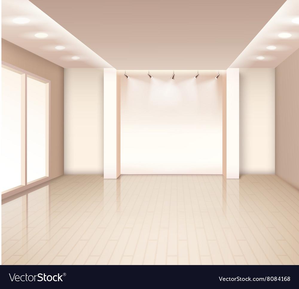 Empty Modern Room Interior Royalty Free Vector Image