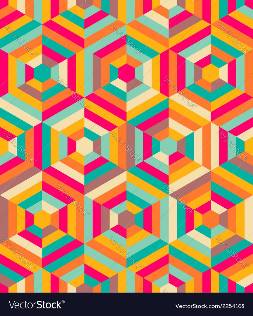 Hexagon mosaic pattern