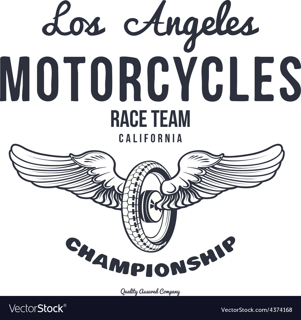Motorcycle typography t-shirt graphics
