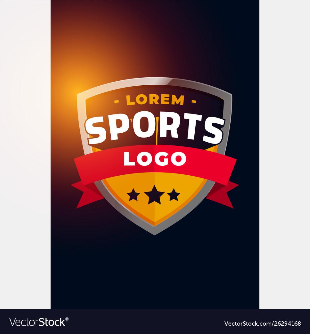 Sports and tournament logo concept design