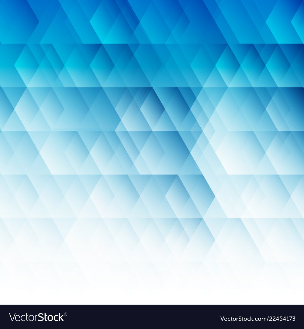 Abstract geometric hexagon pattern blue background