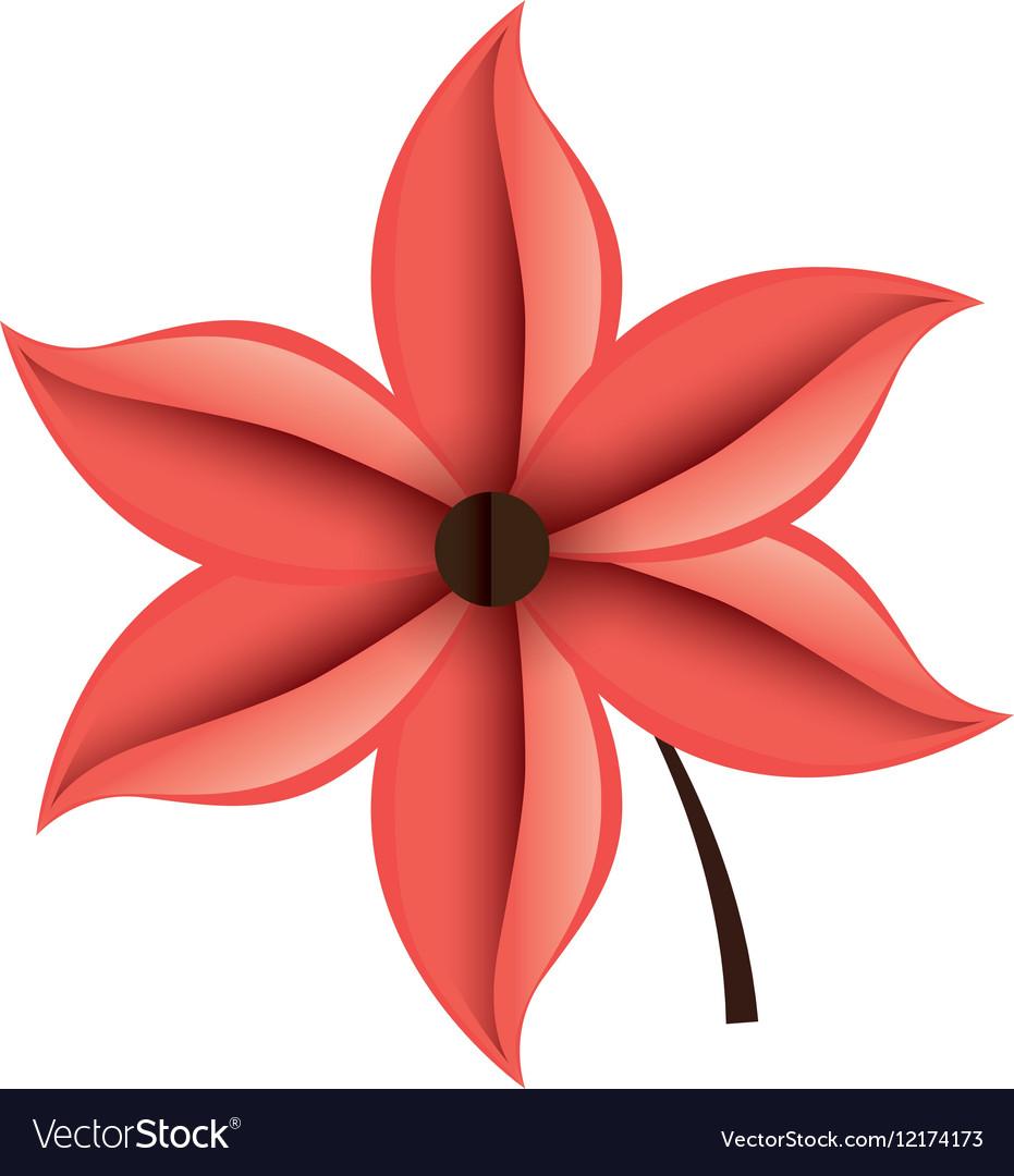Decorative flower isolated icon