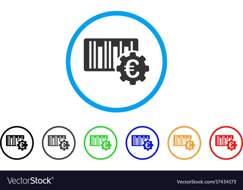 Euro barcode setup rounded icon