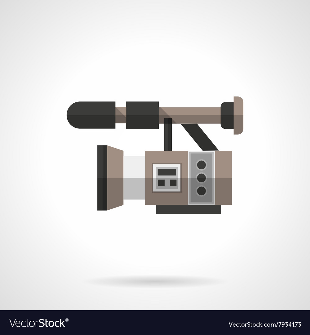 Filming equipment flat color design icon