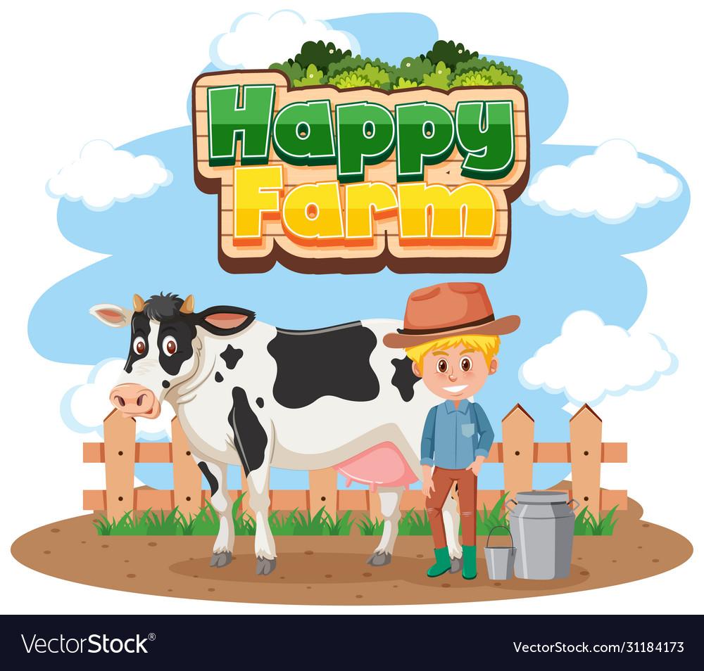 Pop art happy farmer holding basket with fresh vegetables. vector  illustration.