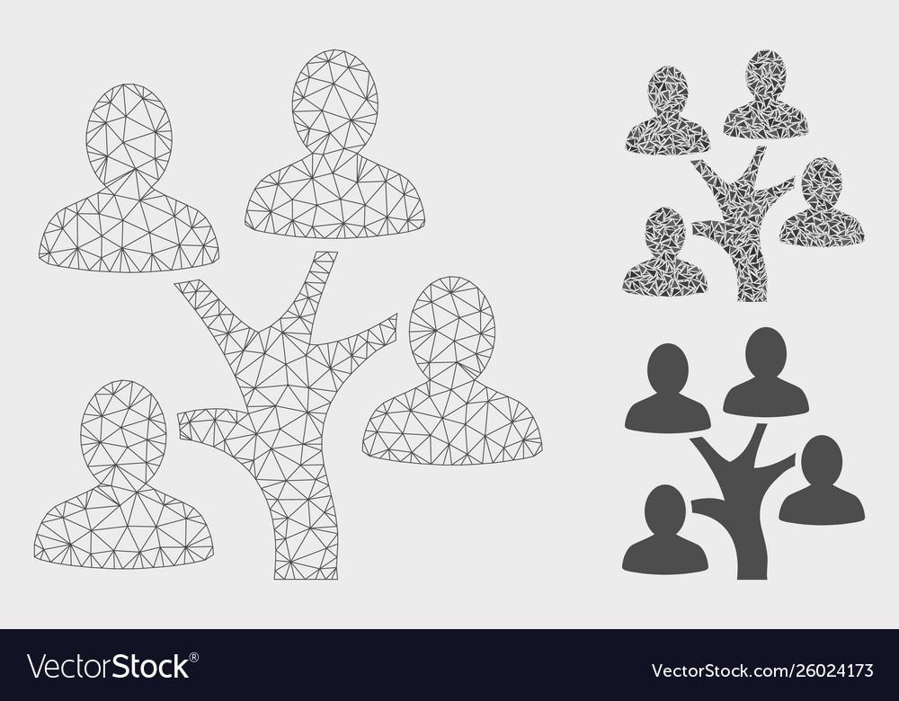 Genealogy tree mesh carcass model and