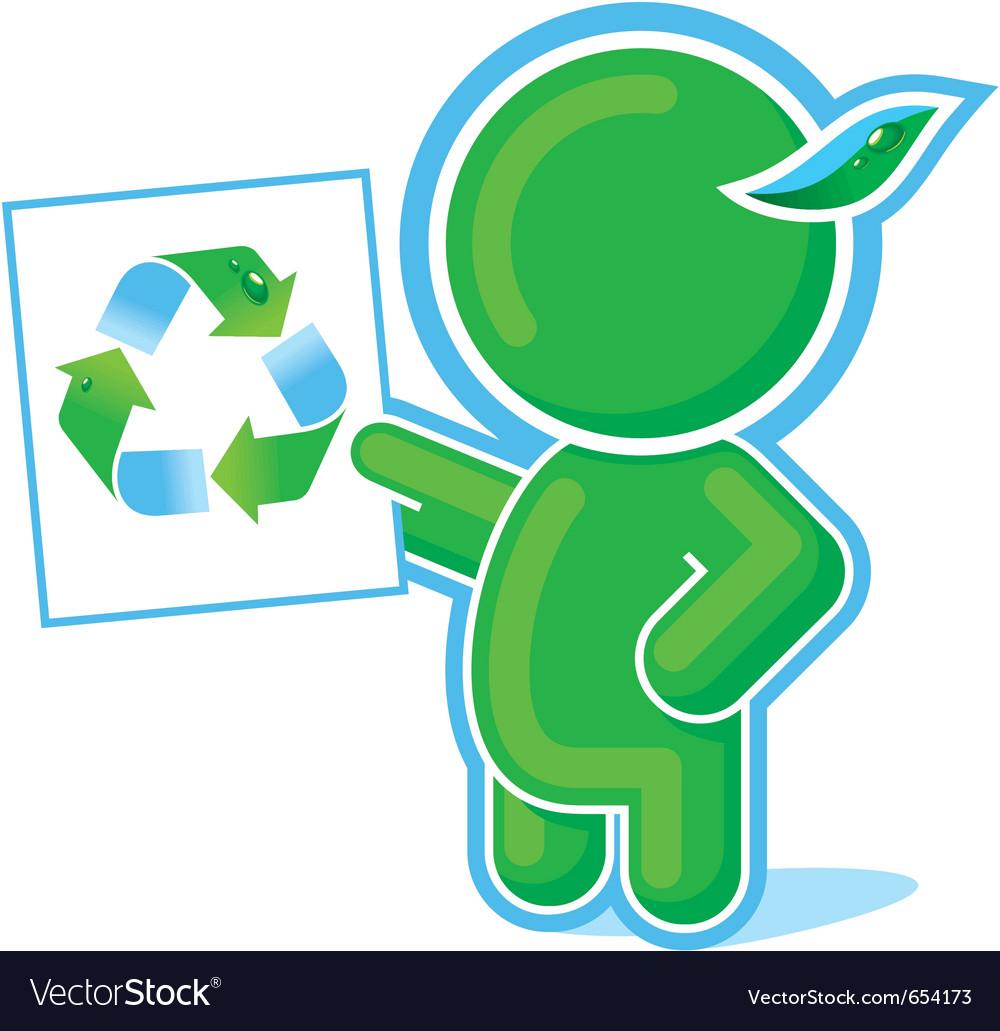 Green Hero Recycle Symbol Royalty Free Vector Image