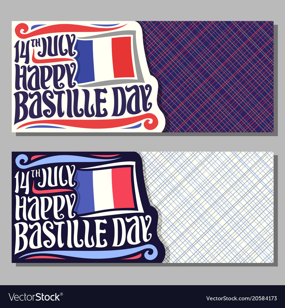 Greeting cards for bastille day royalty free vector image greeting cards for bastille day vector image m4hsunfo
