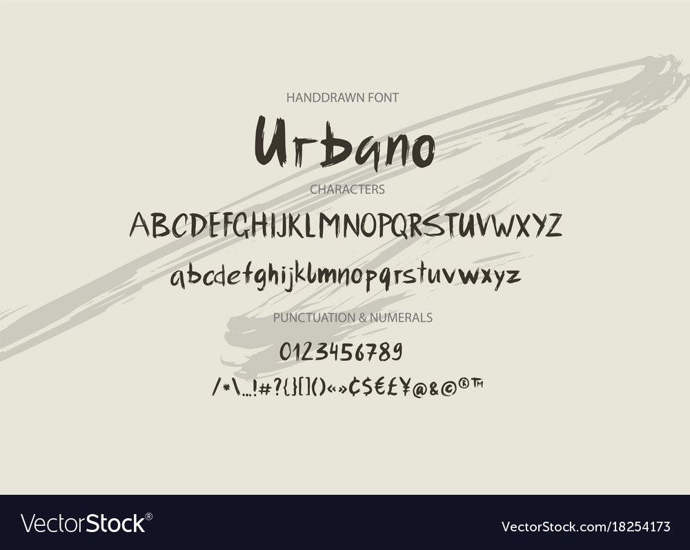Handwritten brush font hand drawn brush style
