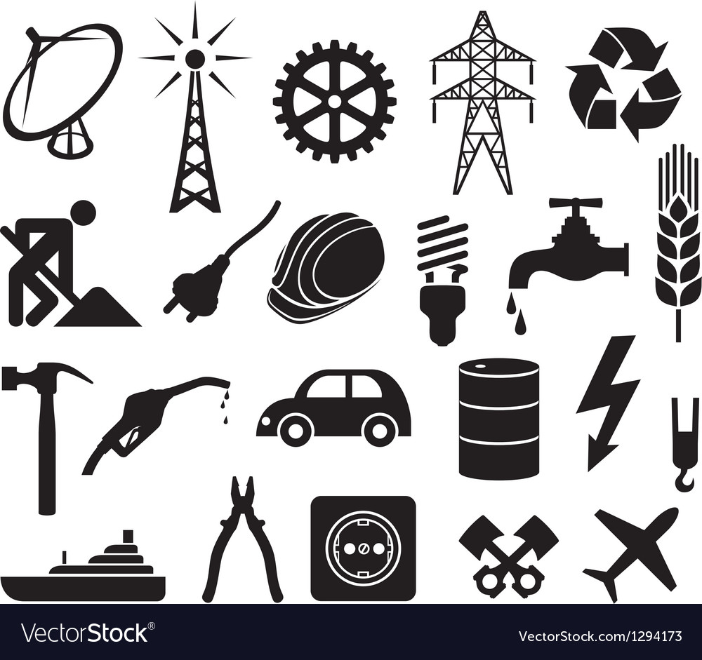 Industry icons collection
