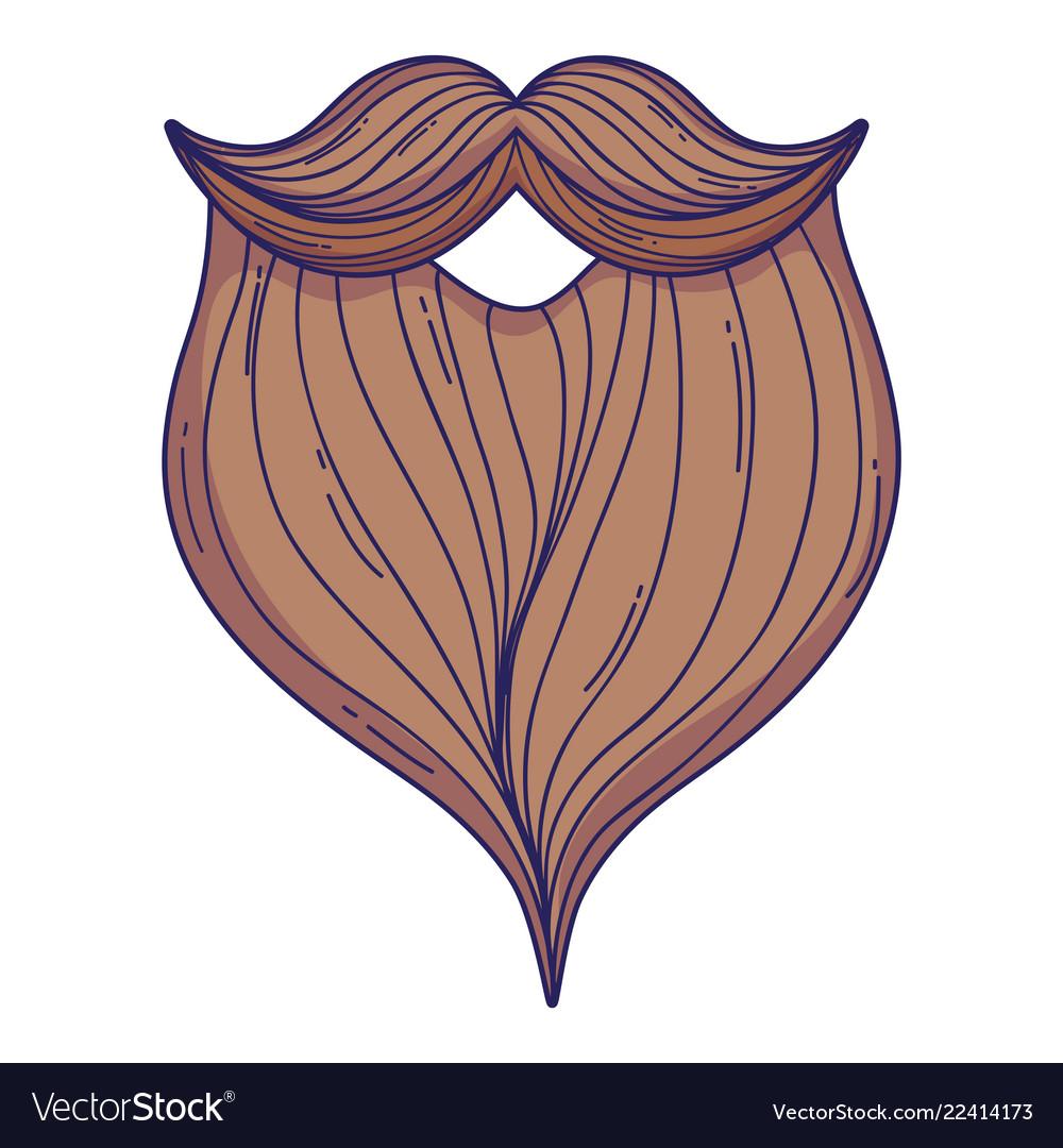 Male beard cartoon