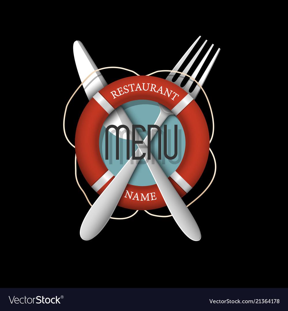 3d retro menu design for seafood restaurant