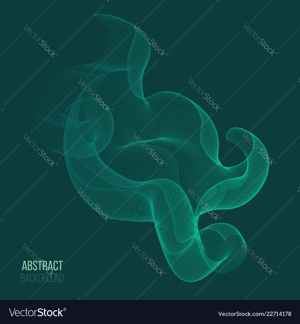 Abstract background with color wave