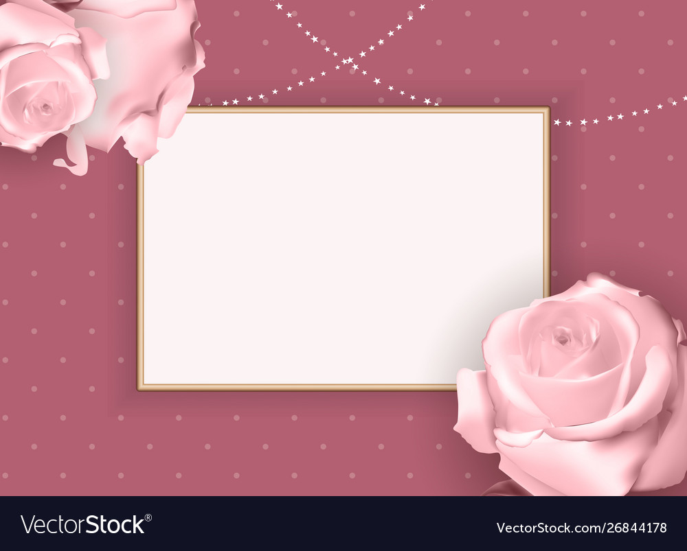 Abstract empty frame roth rose background