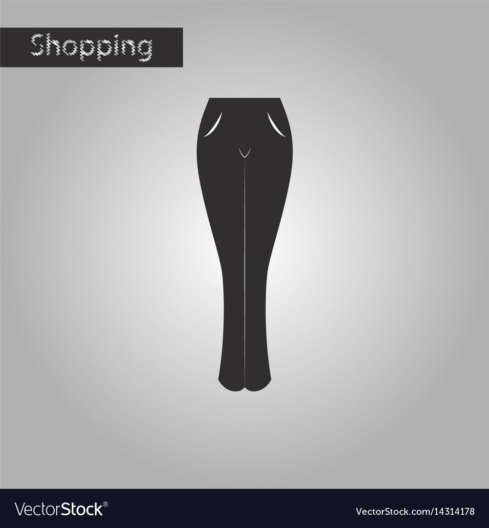 Black and white style icon women jeans vector image
