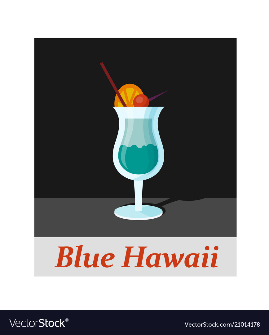 Blue hawaii cocktail menu item or any kind of vector image