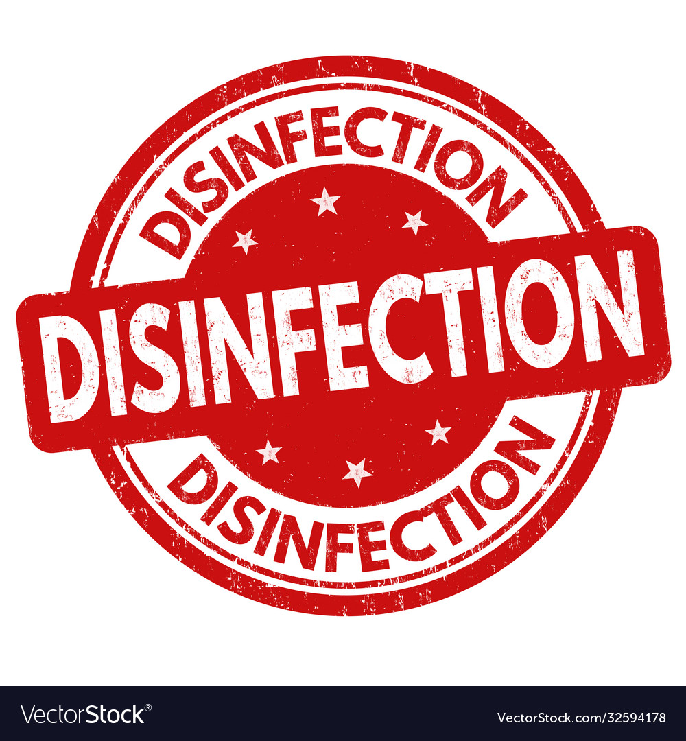 Disinfection sign or stamp