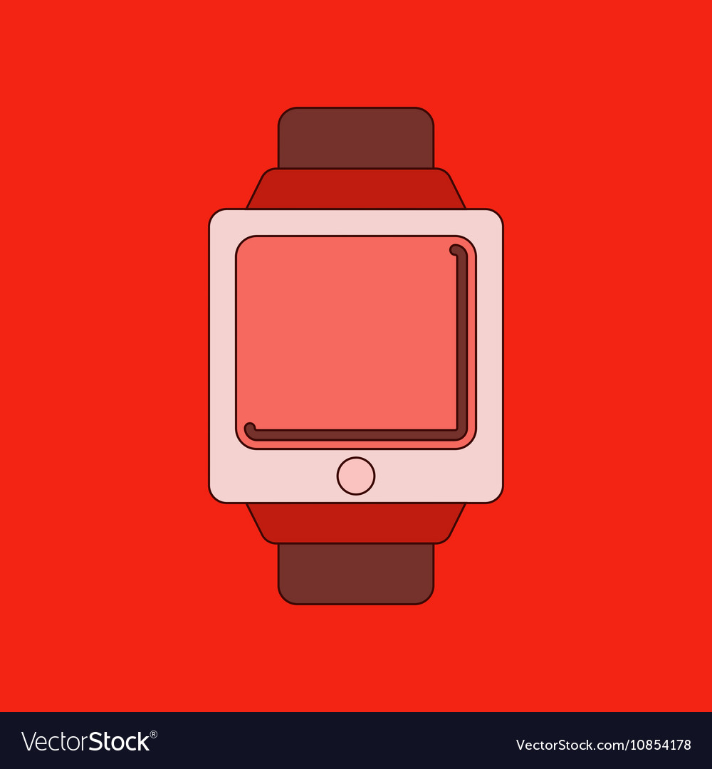Flat on background Digital Watch