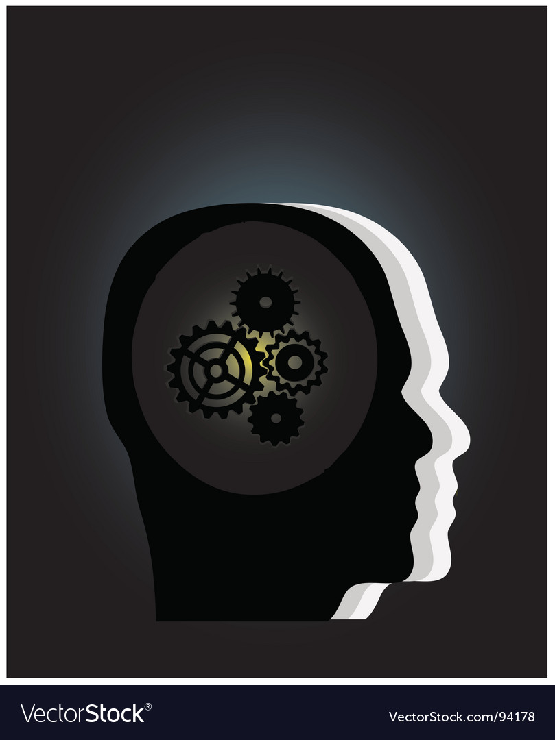 Gear symbol vector image