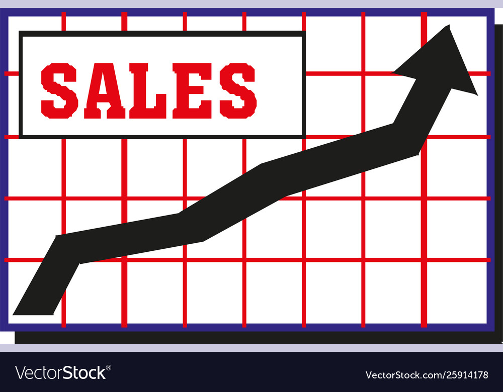 Growing graph sales icon