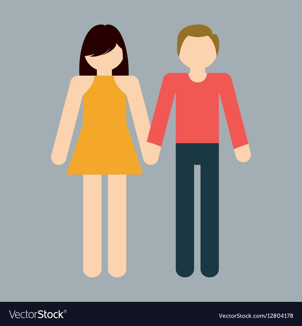 Heterosexual couple icon image