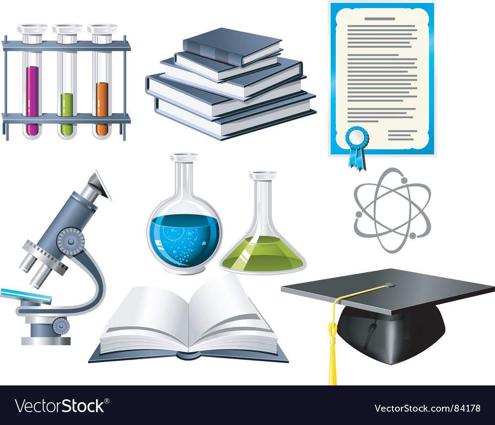 Science and education icons vector image