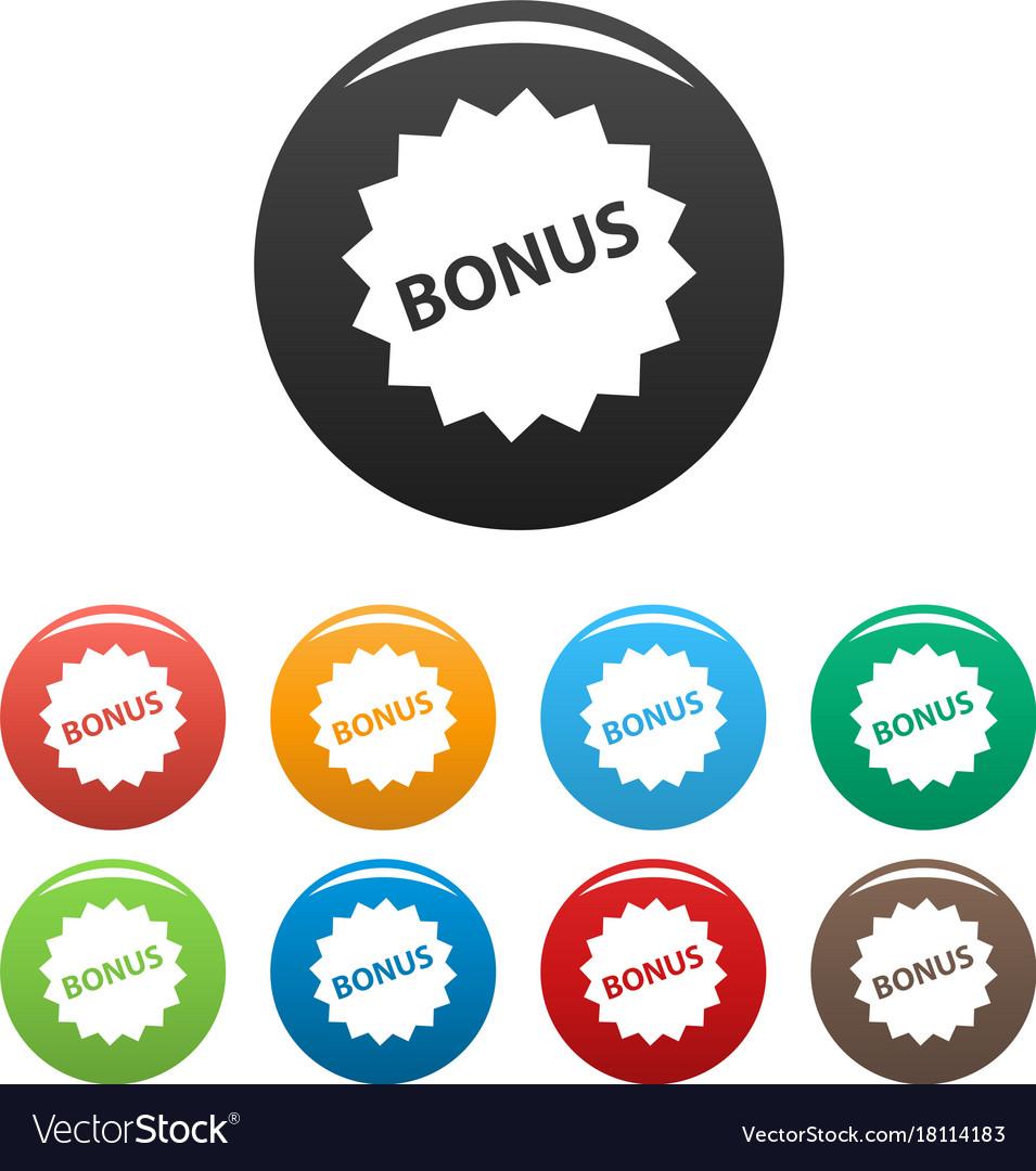 Bonus sign icons set