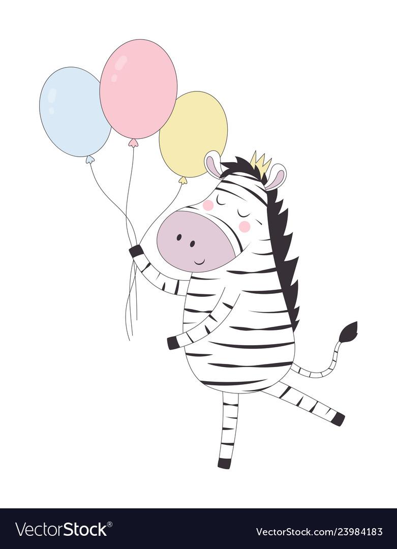 Greeting card with zebra