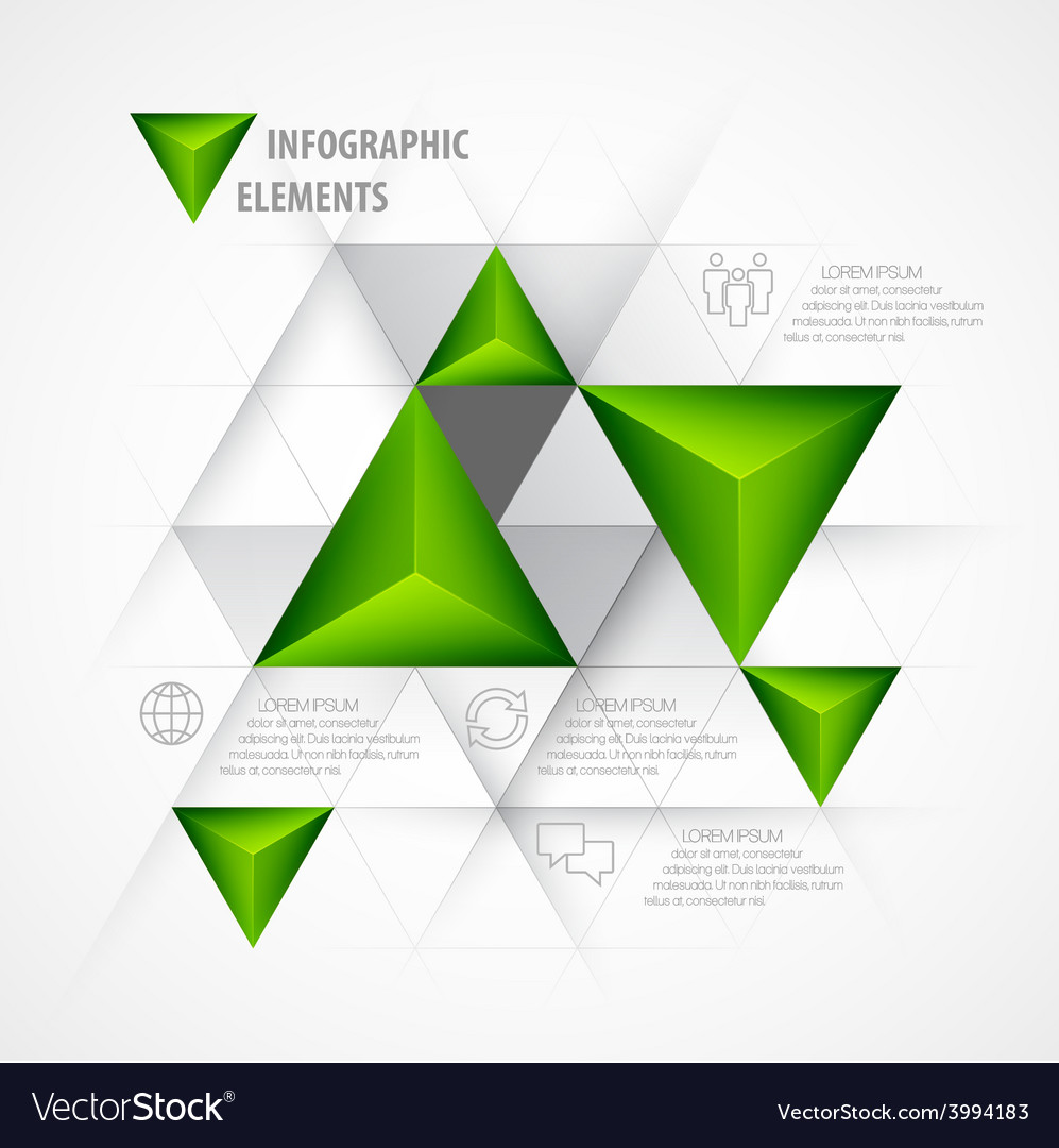 Infographics with a 3d arrow