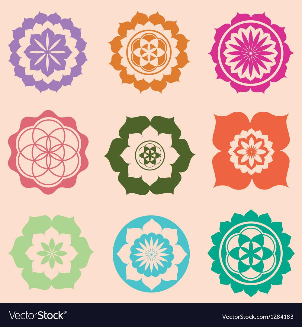 Life seed mandalas designs