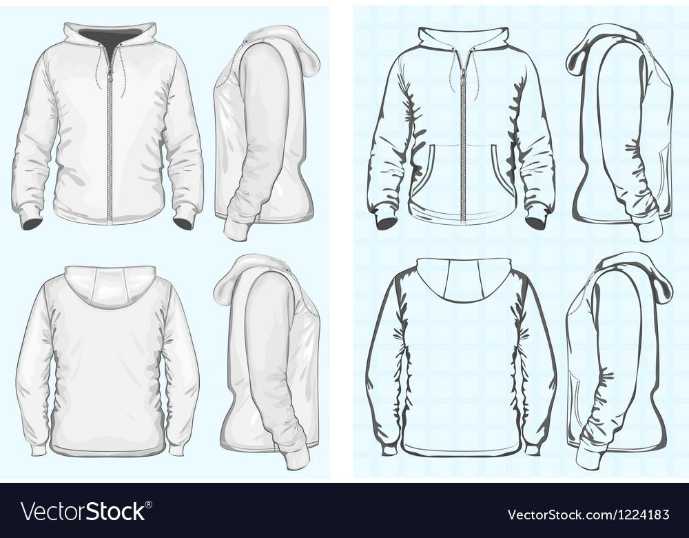 Mens hooded sweatshirt with zipper