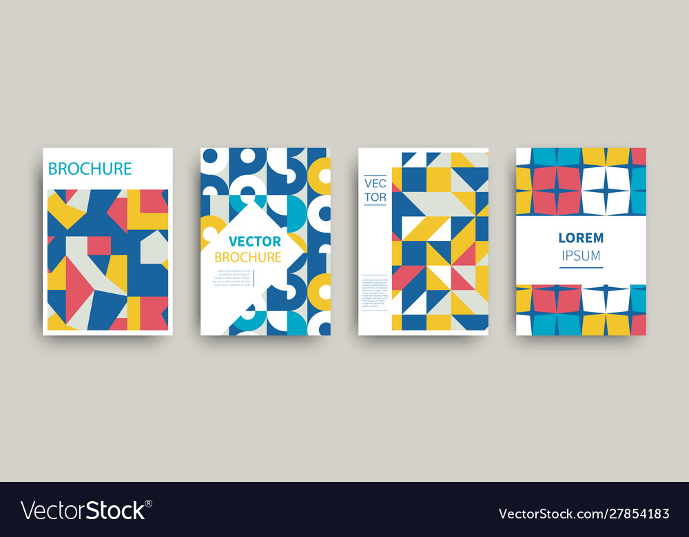 Modern abstract geometric covers templates set