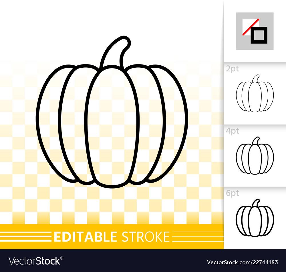Pumpkin simple editable stroke icon set