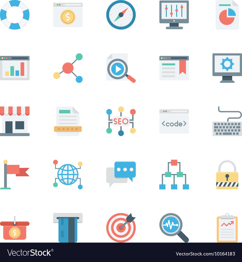 SEO and Marketing Colored Icons 3