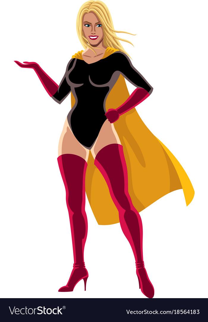 Superheroine presenting vector image