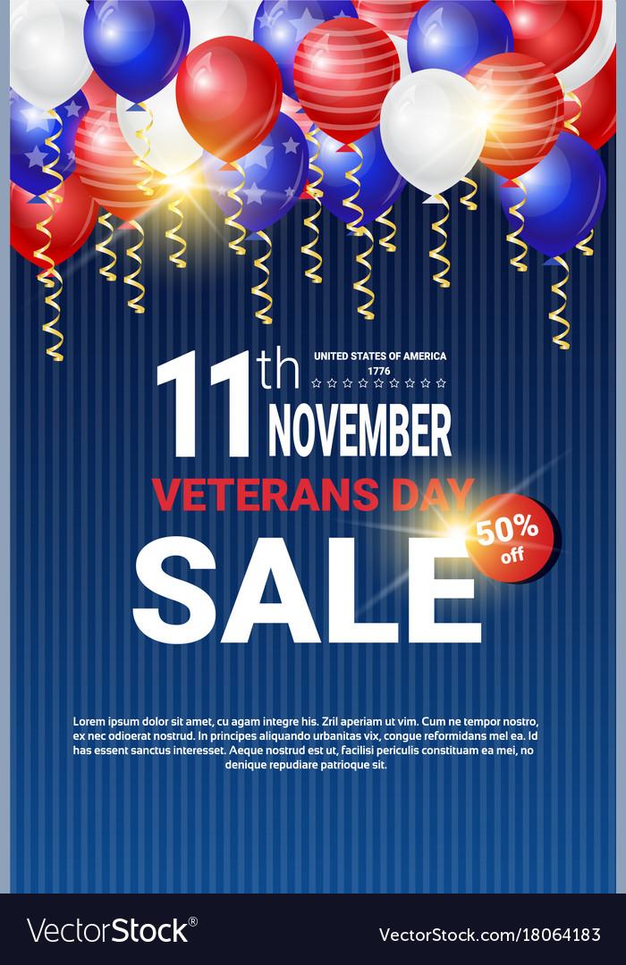 Veterans day sale celebration shopping promotions