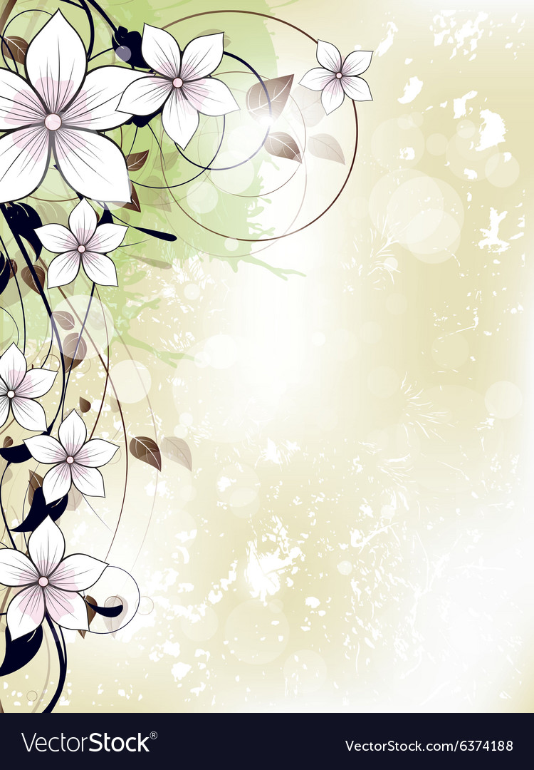 Abstract floral spring background with flowers and
