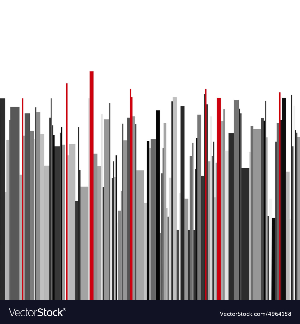 Abstract vertical infographics gray black and red vector image