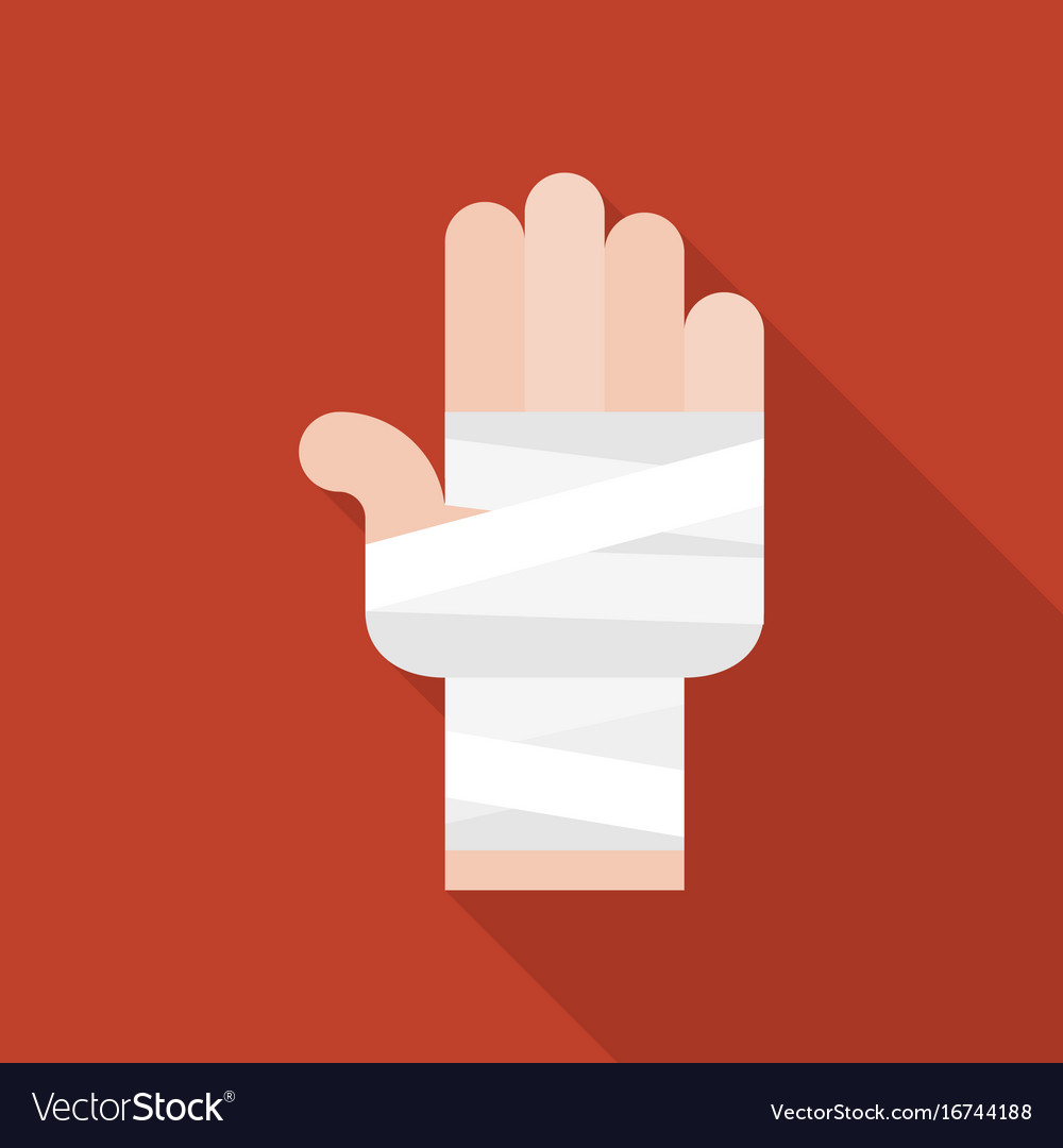 Hand and bandage icon vector image