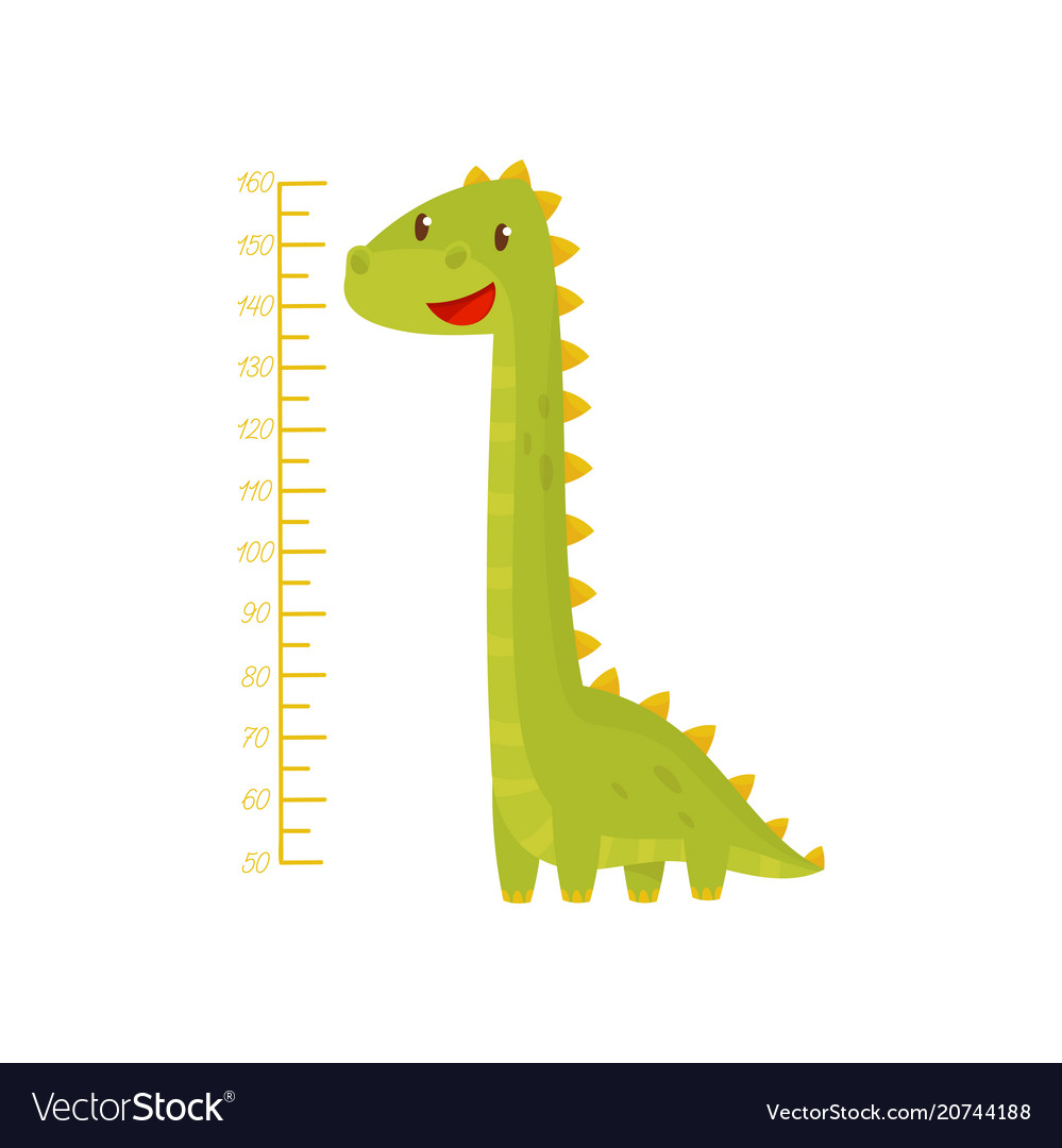 Height chart for measuring kids growth with