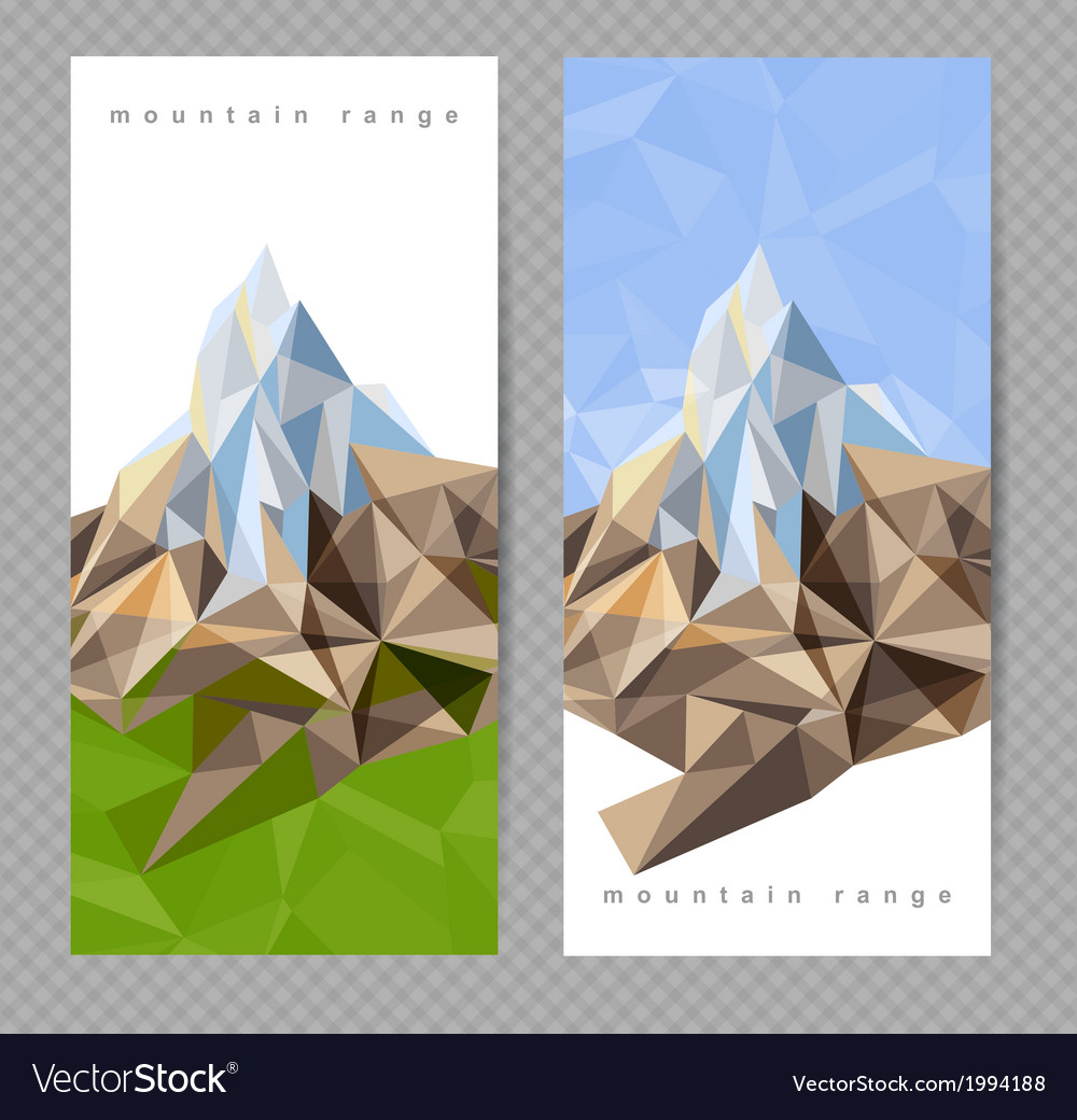 Mountains banners