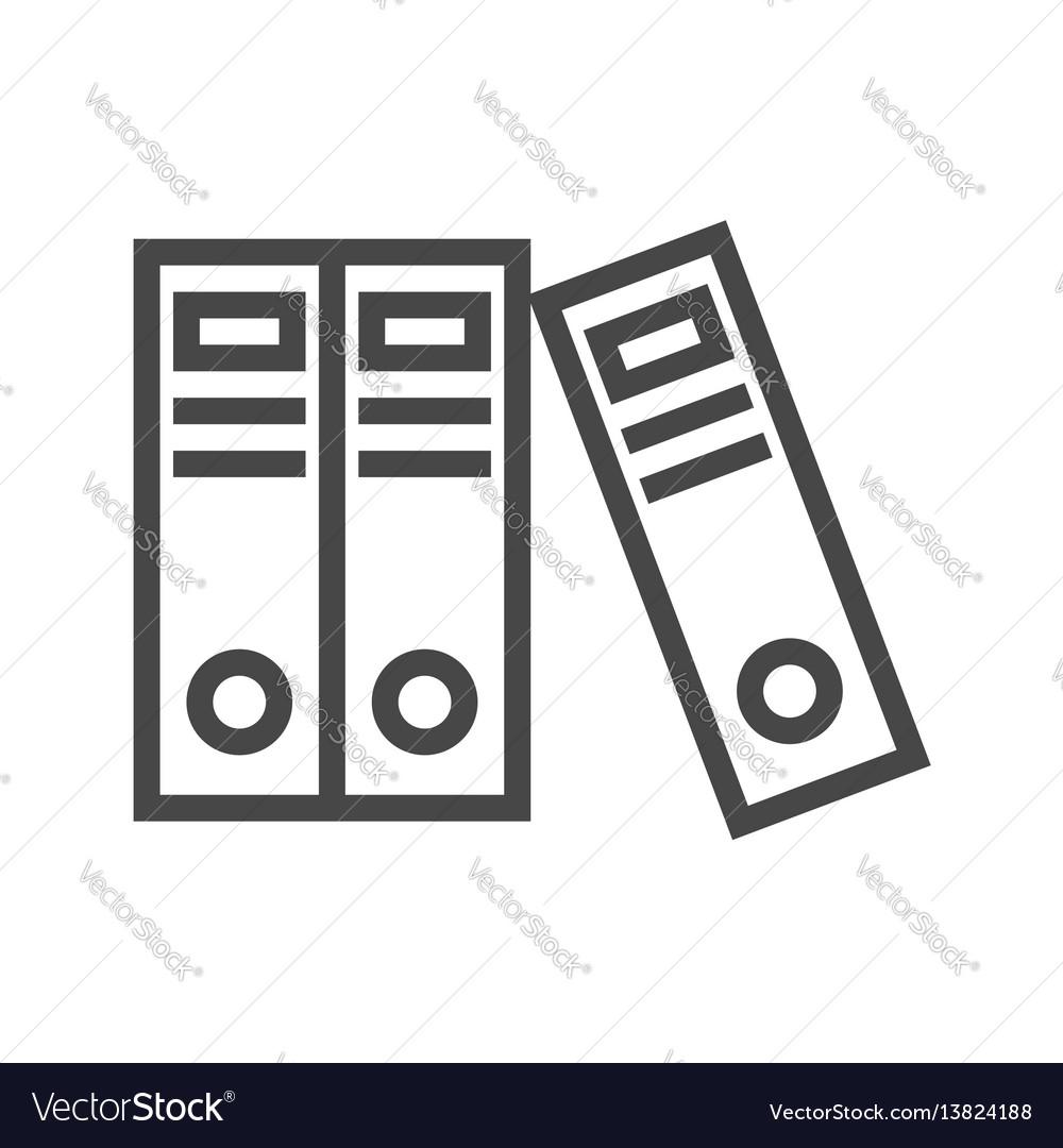 Office folders thin line icon