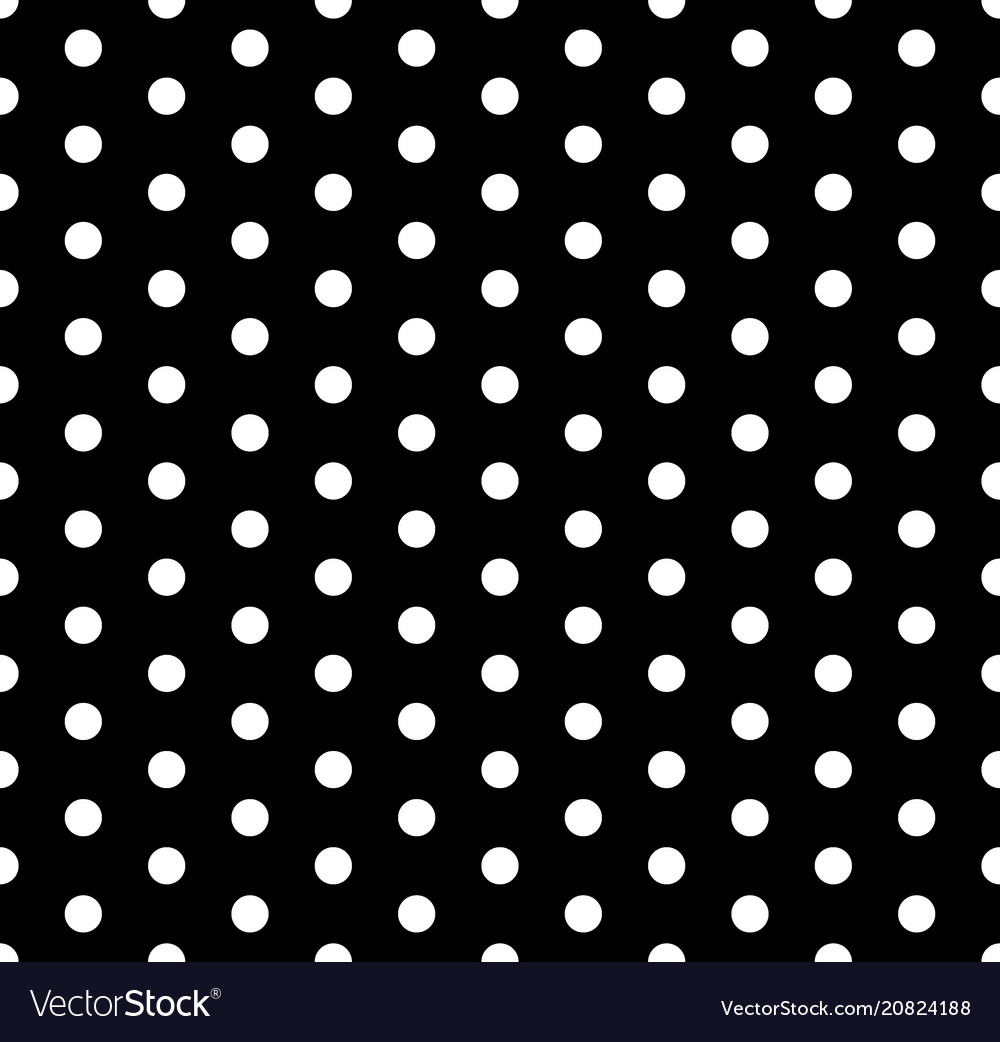 Seamless polka dots pattern background vector image