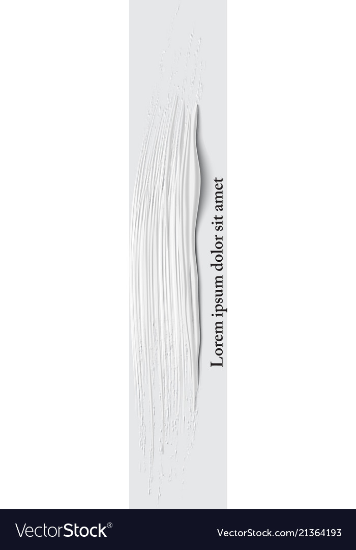 3d white vertical paint brush stroke
