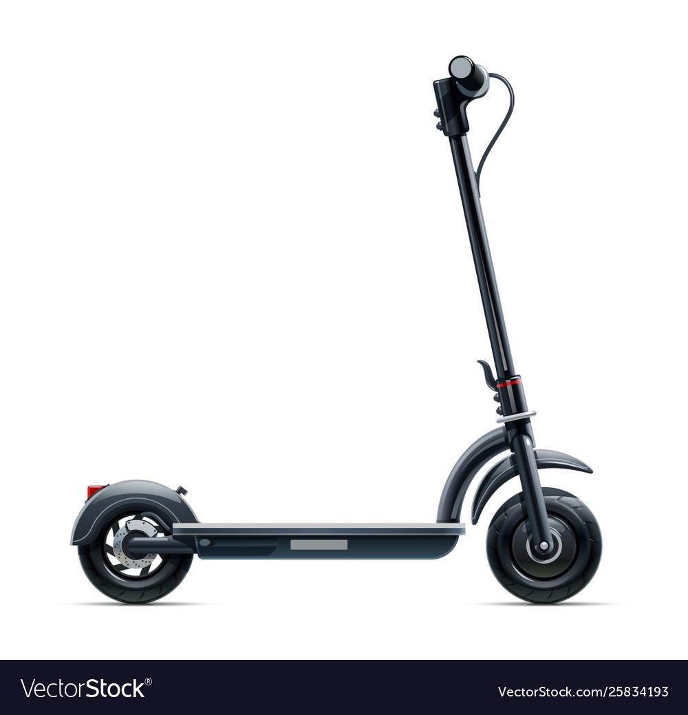 Black scooter urban
