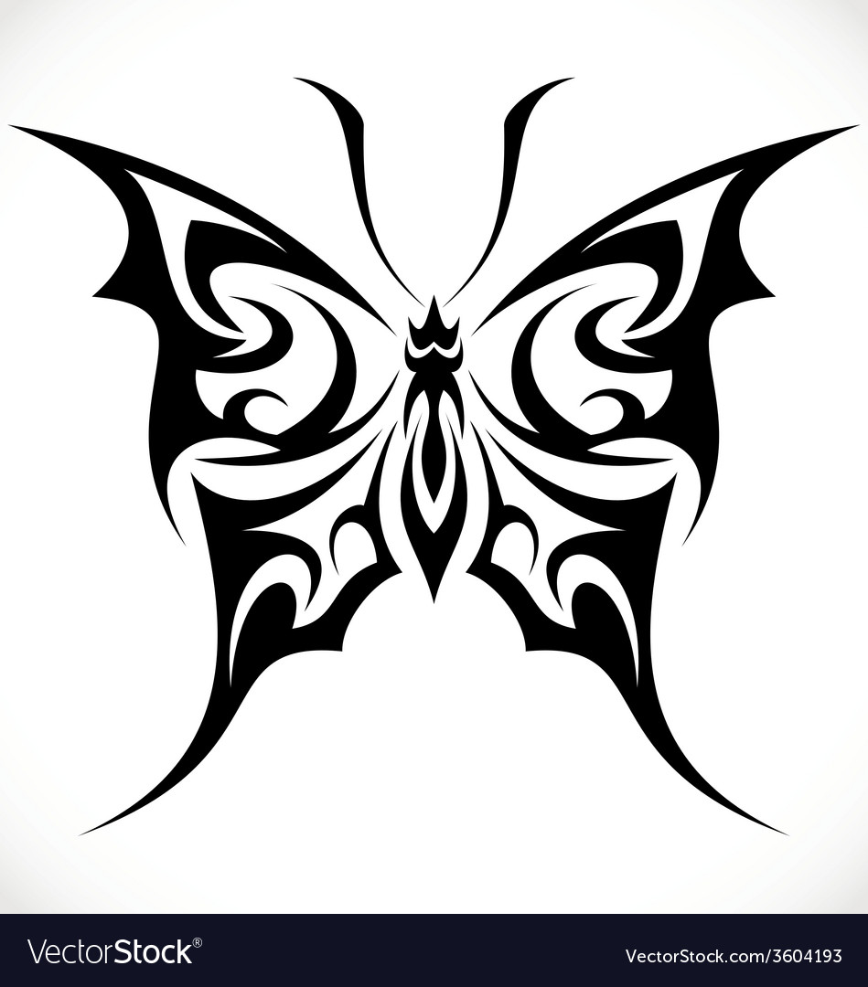 64e5dc376 Butterfly Tattoo Design Royalty Free Vector Image