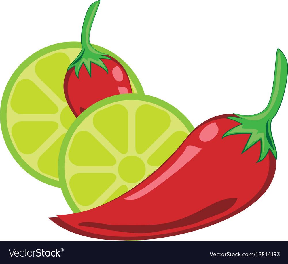 Chili peper and lemon