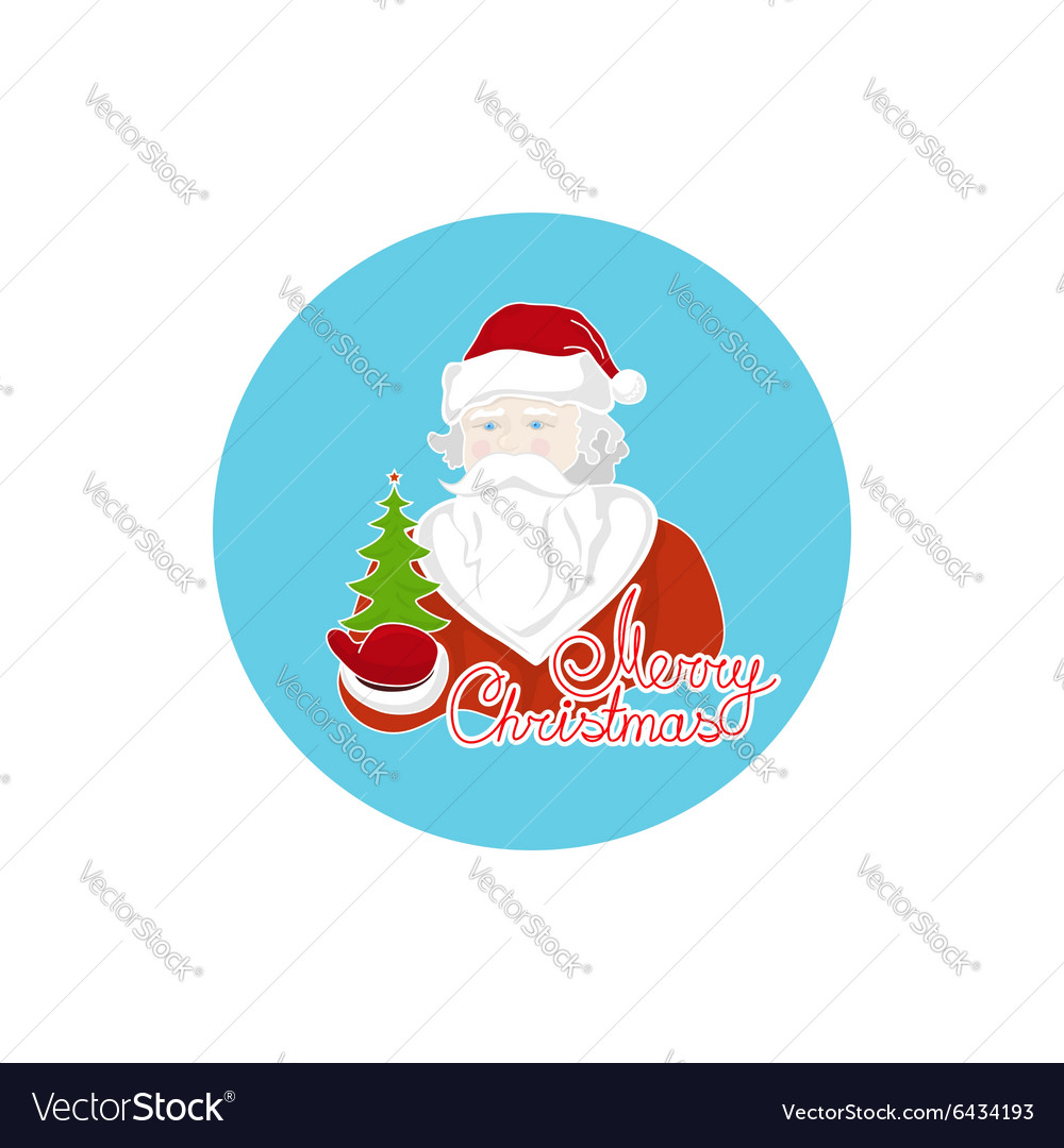 Colorful Icon Santa Claus vector image
