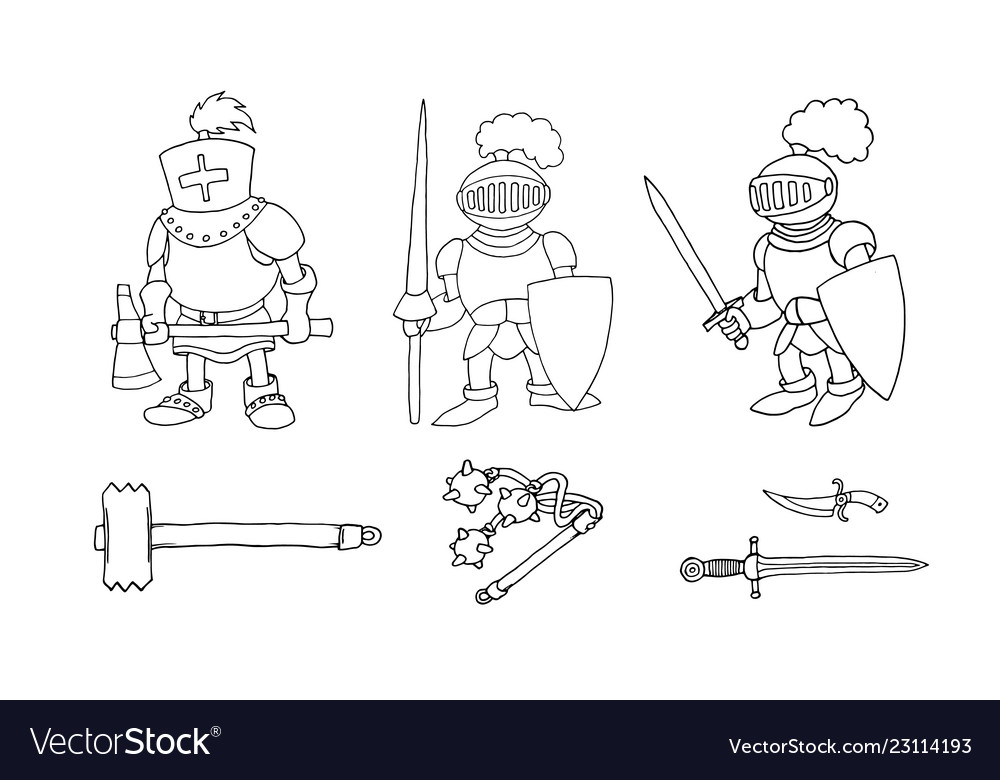 Download or print out the coloring page Knight Crusade | Rajzok ... | 780x1000